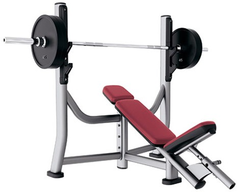 Скамья LIFE FITNESS Signature Bench-Rack Olympic Incline Bench SOIB