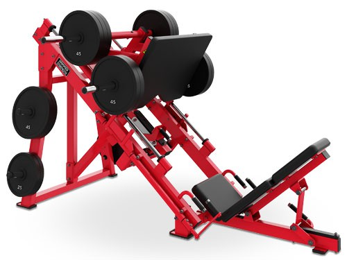 Силовой тренажер HAMMER STRENGTH Plate-loaded Linear Leg Press HSLLP