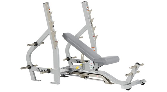 ������ HOIST Commercial Freeweight Line Three Way Olympic Bench Flat/Incline/Decline CF-2179