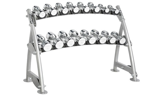 Подставка HOIST Commercial Freeweight Line 2-tier Horizontal Beauty Bell Rack (8 Pairs) CF-3462-2