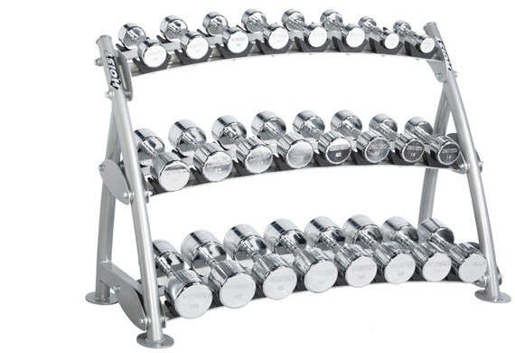 Подставка HOIST Commercial Freeweight Line 3-tier Horizontal Beauty Bell Rack (12 Pairs) CF-3462-3